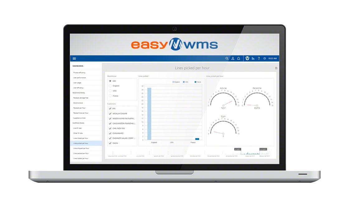 Easy WMS en mode SaaS présente une interface intuitive et conviviale