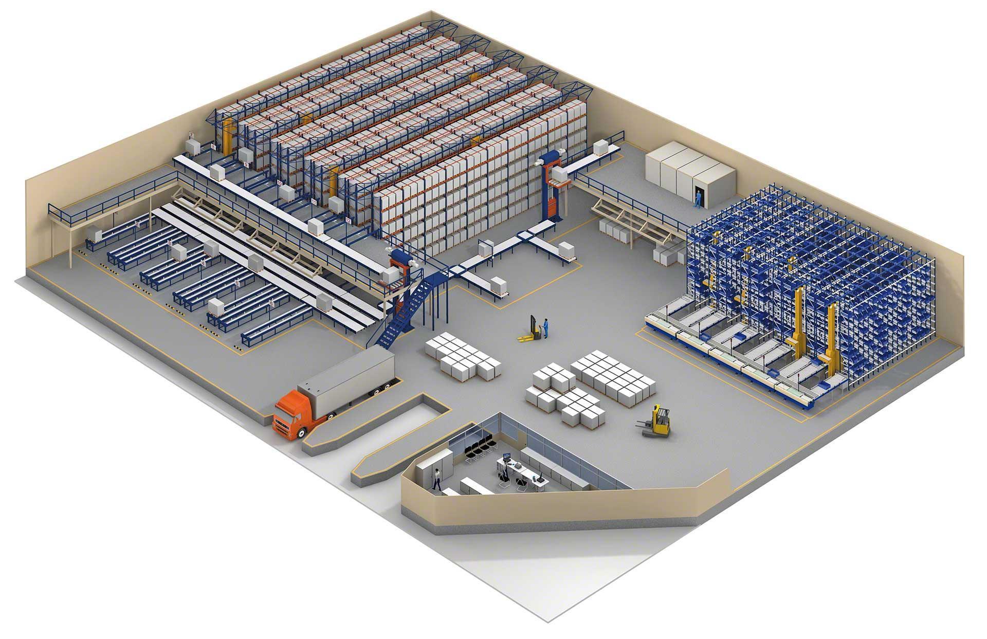 Une bonne organisation et distribution de l'espace fait partie des éléments à réussir en matière de gestion d'un entrepôt logistique