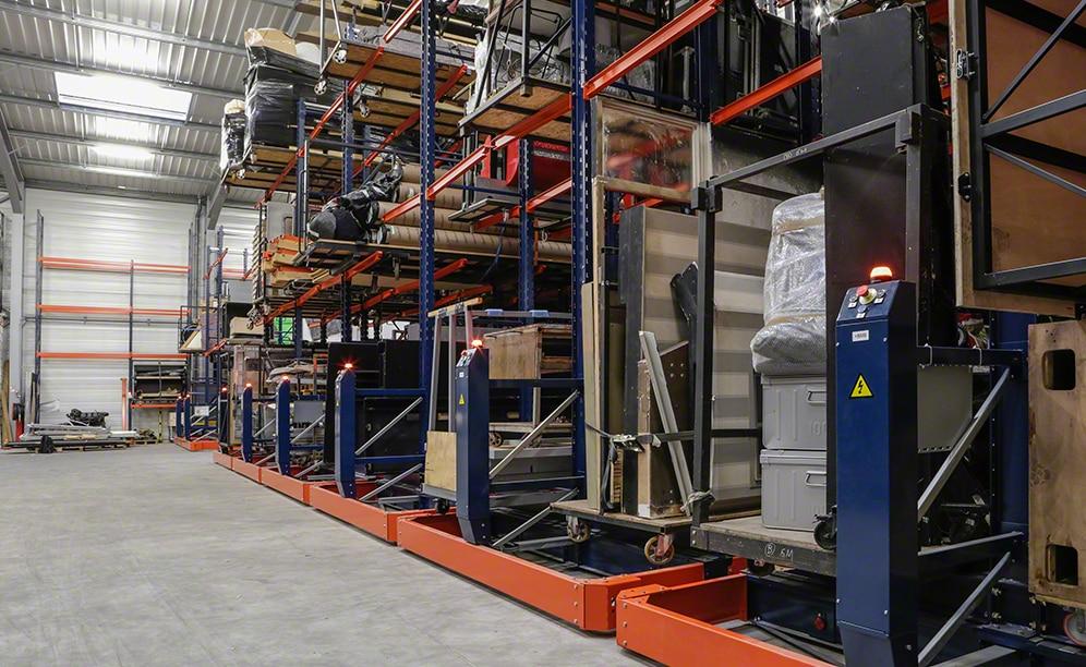 L'entrepôt de Artys en France destiné au stockage d'équipements audio