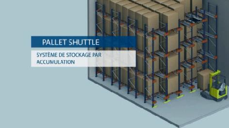 Pallet Shuttle : le stockage par accumulation semi-automatique