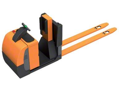 Préparateur de commandes au sol avec plate-forme