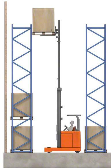 Certains chariots peuvent lever une charge au-dessus de 10 m