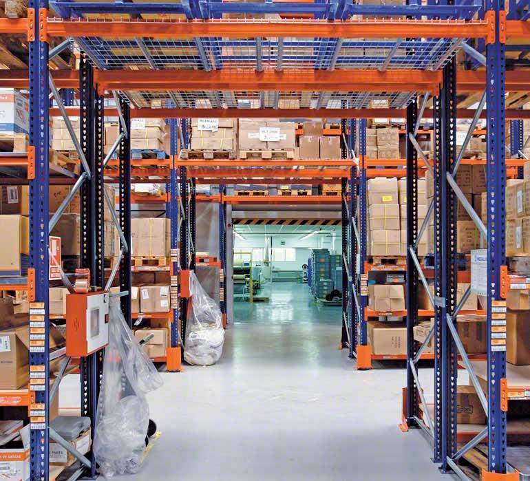 Entrepôt d'un opérateur logistique.
