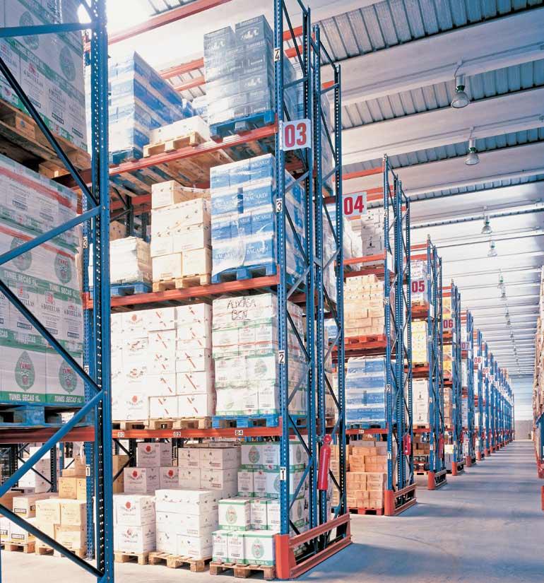 Entrepôt d'une entreprise de distribution