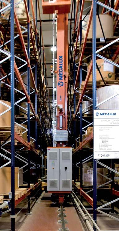 Magasin automatique pour le stockage de bobines de papier