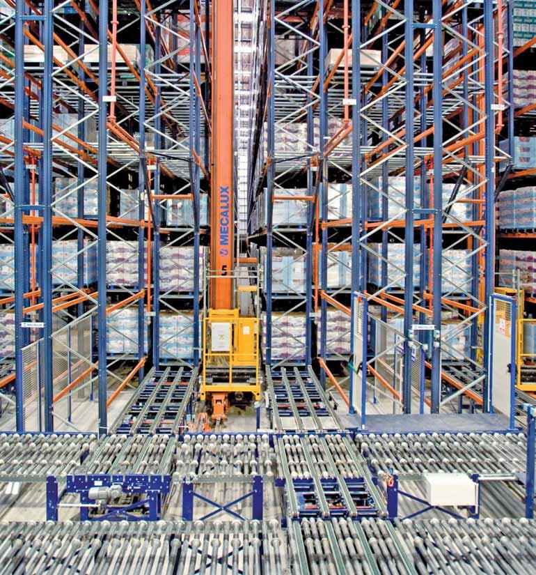 Rayonnages pour le stockage de produits de grande consommation