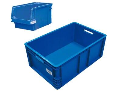 Un conteneur dans lequel les unités de vente sont déposées en vrac.