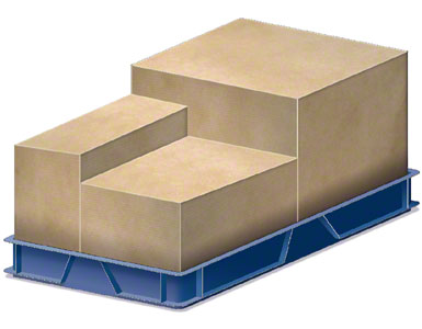 Un conteneur dans lequel sont introduites les caisses d'emballage envoyées au fournisseur