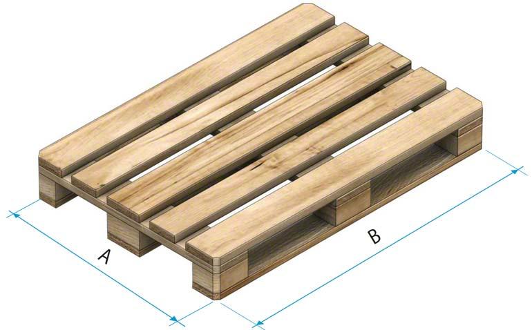 Palette en bois de type 1