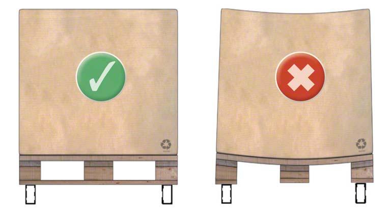 Palettes en bois de type 1 et 2