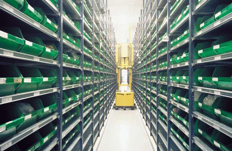 Entrepôt d'une entreprise de composants électroniques