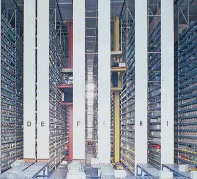 Entrepôt d'un fabricant de composants électroniques