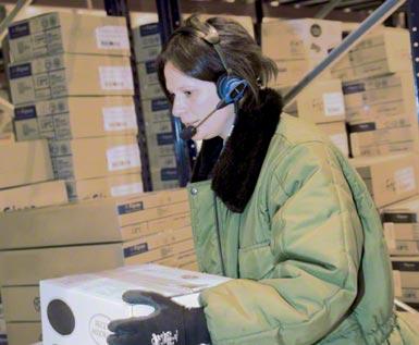 Système de picking par voice picking appliqué dans un entrepôt frigorifique