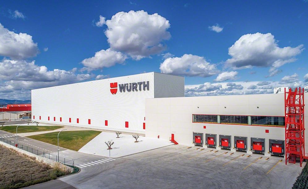 Stockage automatisé pour palettes : Würth Espagne