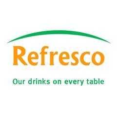L'entrepôt de Refresco pour emballages de boissons gazeuses et jus en Pologne